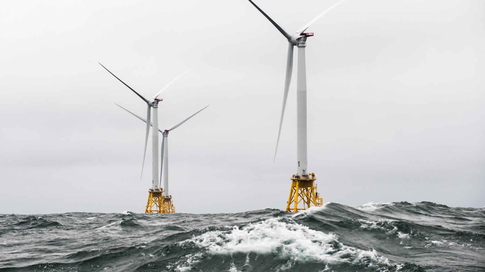 <h4>America's First Offshore Wind Farm</h4><h5>Block Island (R.I.) Wind Farm, December 2016</h5><em>U.S. Dept of Energy Photo</em>